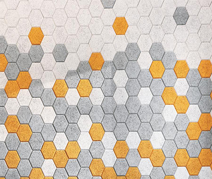 Hexagonal Akustik Ahşap Pan