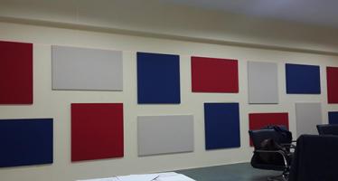 Maslak Hattat İnşaat Toplantı Odası Kumaş Kaplı Panel Uygulaması