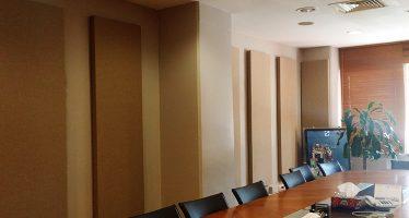 Microsoft İstanbul Toplantı Odası Akustik Kumaş Panel Uygulaması