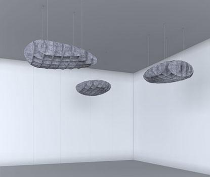 Akustik Cloud Sarkık Panel
