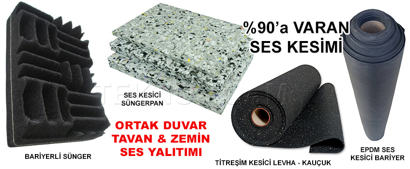İstanbul Ses Yalıtımı Malzemeleri Süngerleri Fiyatları
